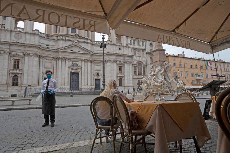 Roma il primo giorno di riapertura, lo scorso 18 maggio
